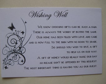 Wishing Well Cards (20 Pack)  Wedding, Engagement (Butterfly)