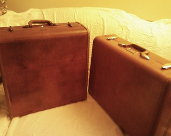 PRICE REDUCED Vintage Samsonite Suitcase This Listing is for the Rectangular Suitcase Only The SQuare Suitcase Pictured has SoLD