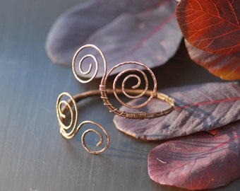 Copper Bangle Bracelets Copper Bracelet Wire Wrapped stacking bangles Copper Wire Jewelry hammered copper bracelets copper wedding metal