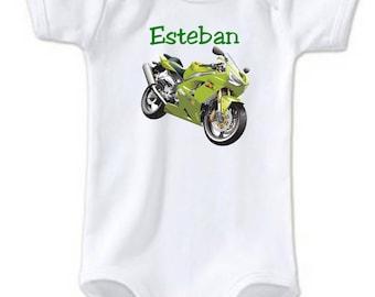 Bodysuit bike personalized with name