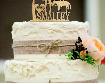 Personalized wedding cake topper, Custom wedding cake topper, Unique wedding cake topper, Rustic wedding cake topper, Funny cake topper