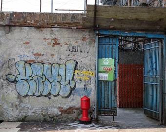Grafitti, Italy, Venice Grafitti, Blue Grafitti, Travel Photography