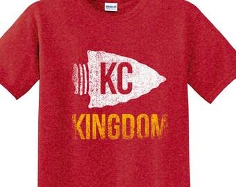 Kansas City Football KINGDOM Custom T-shirt