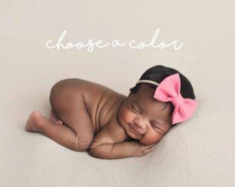Baby Headbands, Hair Bows, Baby Girl Headband, Newborn Bow, Newborn Baby Headband, Girls Hair Clips, Felt Headbands, Infant Toddler Headband