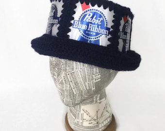 Pabst Hat / PBR Hat / Beer Can Hat / PBR Party Hat / Beer Hat / Pabst / PBR