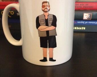 The Dude and Walter Big Lebowski drawing illustrated mug