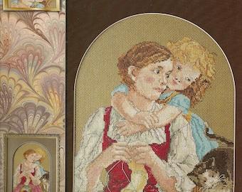 Cross Stitch Patterns Leaflet,Tender Embrace,Counted Cross Stitch Patterns,Mother and Child Cross Stitch,