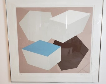 Mid Century Modern Charles Hinman 1976 Pace Editions Lithograph