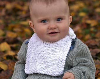 Hunsburger Baby Bib PDF Knitting Pattern by Vint Hill Knits