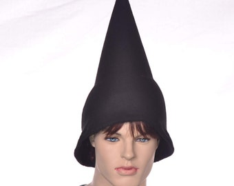 Black Wizard Hat Oversized Pointed Cap Gnome Pointed Elf Costume  Pointy Student Sorcerer Black Witch Hat