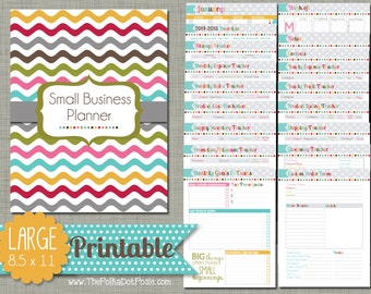 """Small Business Planner {Printable} Set - Sized Large 8.5"""" x 11"""" PDF"""