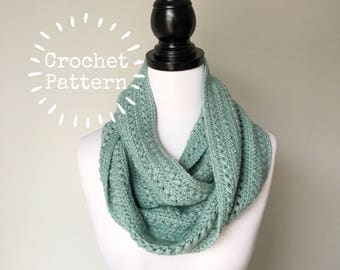 Crochet Pattern - The Claire Scarf - Circular Infinity Scarf - Instant PDF Download