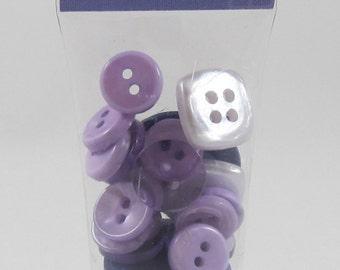 DOLLAR SALE - Junkitz Buttons - Shades of Purple #AA230.25