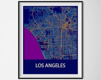 Los Angeles Poster Print - Night