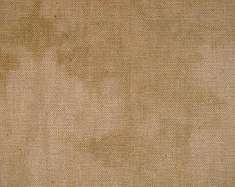 Blotchy Osnaburg Fabric Hand Dyed Using Rit Tan Dye 59 x 40
