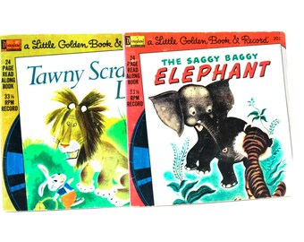Little Golden Book & Record Sets The Saggy Baggy Elephant and Tawny Scrawny Lion