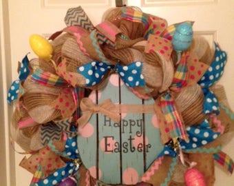 Large Easter Egg Wreath
