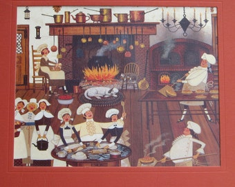 Americana Kitchen Print to Frame or for Paper Arts PSS 1901