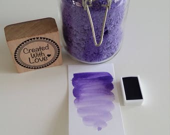 Full pan Ultramarine purple handmade watercolor