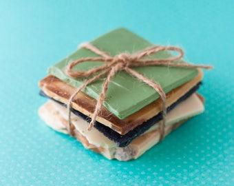 Soap bar ends sampler set  /  Gifts for her /  Eco friendly gift / natural soap / handmade soap / sensitive skin soap / olive oil / coconut