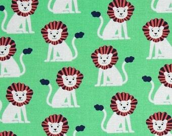 SALE - Mini Lions (Green) - Zoo Littles - Michael Miller - CX6548-SPRO-D