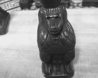 Vintage Egyptian Statue Monkey Hand Carved Made in Egypt
