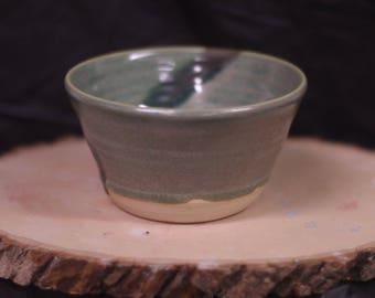 Green metallic bowl
