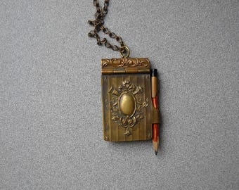 French Dance card Necklace