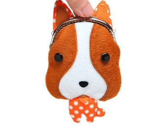 Little brown foxhound coin purse