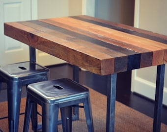 Multi-stained Counter height  table