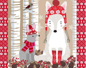 Snow Delightful - Snow Animals PANEL by Natalie Alex from Studio E