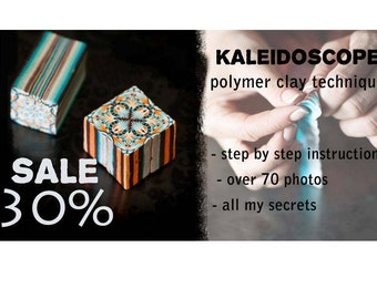 Polymer clay tutorial, Kaleidoscope cane tutorial, PDF tutorial, polymer clay cane tutorial