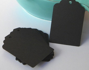 500 black tags - black paper tags - gift tags - wedding favor tags - merchandise tags - jar tags - hang tags - craft supplies