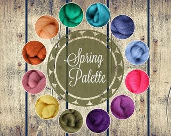 Roving Packs, Wool Roving, Spring Palette, Wool Roving for Felting, Wool Roving for Spinning, Wool Roving for Sale, Needle Felting Supplies
