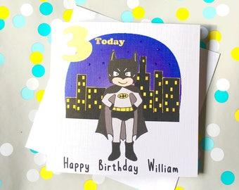 Batman Inspired Personalised Birthday Card