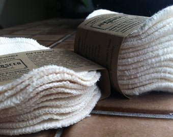 Sherpa écru de coton bio Alternative aux jetables visage Poufs - sac de lavage 12 polaire tours, Plus de BONUS