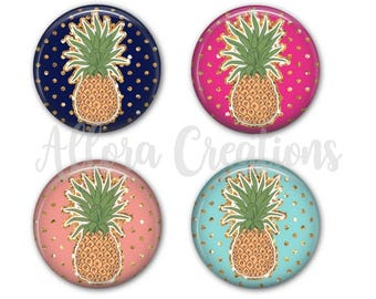 Pineapple Coasters, Set of 4 Coasters, Drink Coasters
