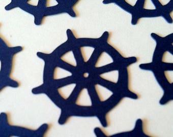 Ships Helm Confetti, Captains Wheel, Nautical Ship Wheel Confetti, Beach Wedding, Boat Cruise Party Confetti, Baby Shower, Color Options