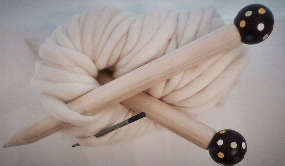 "SALE-Large 17"" Knitting Needles, Classic SMOOSH STIX, Made for Smoosh Yarn."
