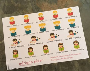 Summer Reading Reminders for Erin Condren Life Planner, Plum Paper Planner, Filofax, Kikki K, Calendar or Scrapbook SK-241