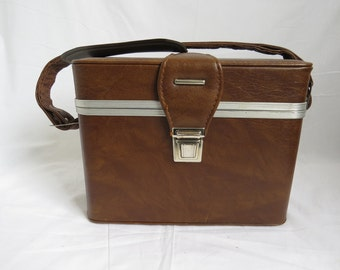 NIKON SPEEDLIGHT SB-9 Brown Leather Rectangular Hinge Lid Clasping Camera Case