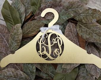 Personalized Wooden Hanger – Custom Bride Hanger – Personalized Wedding Dress Hanger - Bridesmaid Hangers *