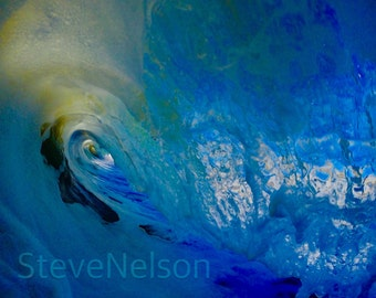 Beach pictures, wave photography, Surf photo, California wave canvas, Fine Art Photography, Wave Breaking In Ventura California
