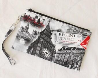 Family Passport Holder - Travel Document Holder - Family Travel Wallet - Large Passport Wallet - Large Travel Wallet - London British Print