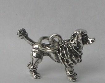 SALE Vintage Sterling Poodle Charm