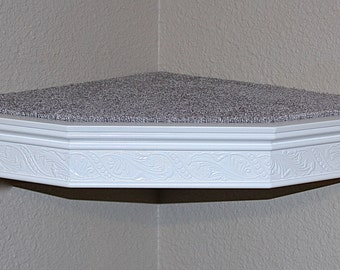 Cat Wall Corner Shelf Floating Heirloom Moulding Style