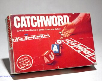 Catchword Word Game of Letter Cards and Cubes 1982 (read description)