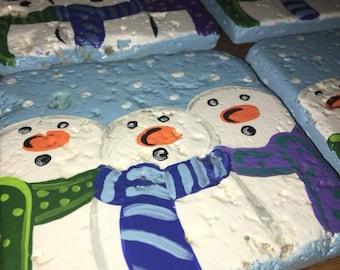 Caroling Snowmen Coasters