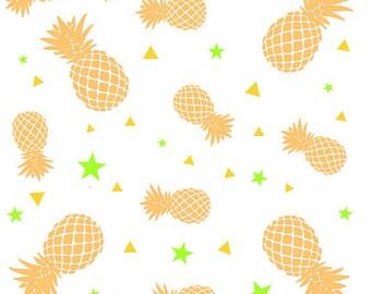 Pineapple print fabric