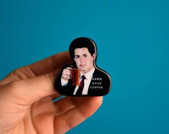Twin Peaks Dale Cooper pin brooch